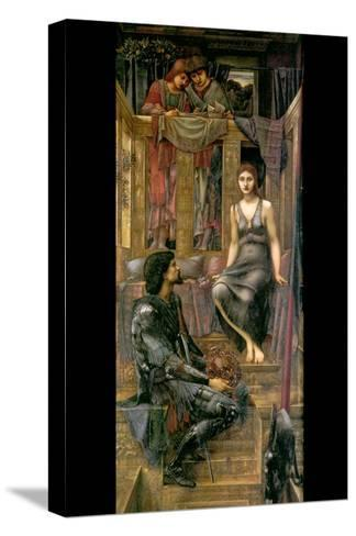 King Cophetua and the Beggar Maid-Edward Burne-Jones-Stretched Canvas Print