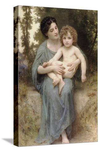 The Little Brother-William Adolphe Bouguereau-Stretched Canvas Print