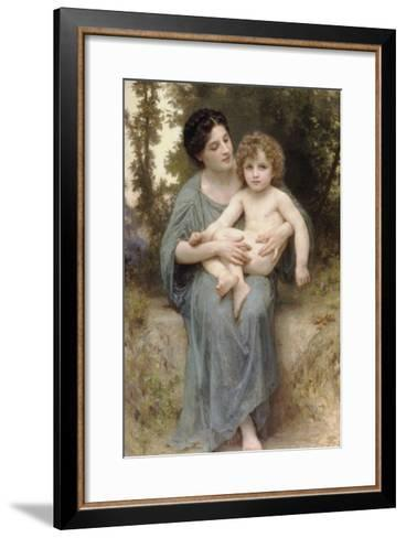 The Little Brother-William Adolphe Bouguereau-Framed Art Print
