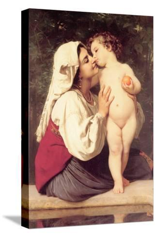 The Kiss-William Adolphe Bouguereau-Stretched Canvas Print