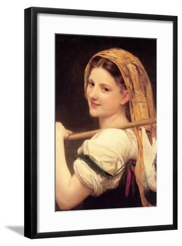 Returned from the Market-William Adolphe Bouguereau-Framed Art Print
