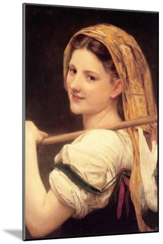 Returned from the Market-William Adolphe Bouguereau-Mounted Art Print