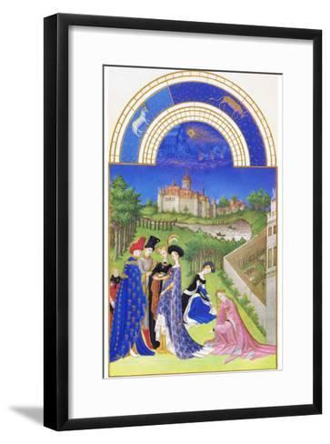 Le Tres Riches Heures Du Duc De Berry - April-Paul Herman & Jean Limbourg-Framed Art Print