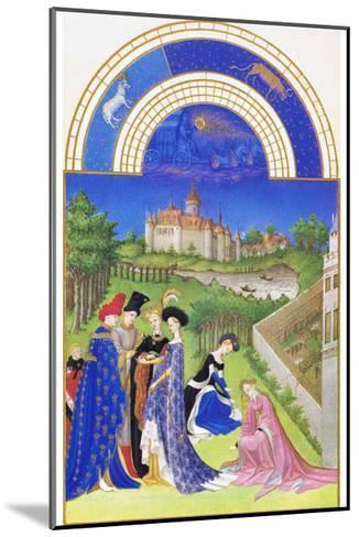 Le Tres Riches Heures Du Duc De Berry - April-Paul Herman & Jean Limbourg-Mounted Art Print