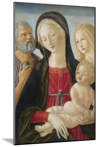 Madonna and Child with Saints Jerome and Mary Magdalene,-Neroccio Di Landi-Mounted Art Print