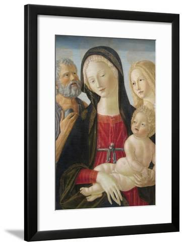 Madonna and Child with Saints Jerome and Mary Magdalene,-Neroccio Di Landi-Framed Art Print