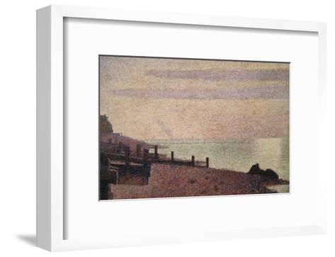 Evening, Honfleur-Georges Seurat-Framed Art Print
