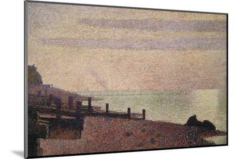Evening, Honfleur-Georges Seurat-Mounted Art Print