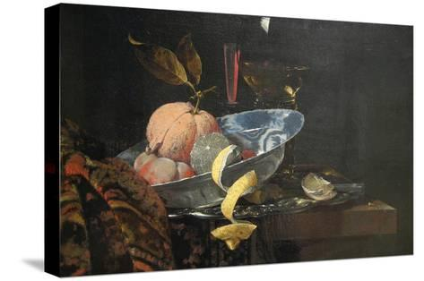 Still Life with Fruit, Glassware, and a Wan-Li Bowl, 1659-Willem Kaif-Stretched Canvas Print