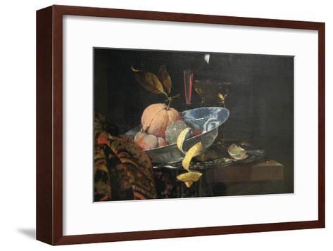 Still Life with Fruit, Glassware, and a Wan-Li Bowl, 1659-Willem Kaif-Framed Art Print
