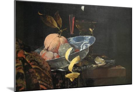 Still Life with Fruit, Glassware, and a Wan-Li Bowl, 1659-Willem Kaif-Mounted Art Print