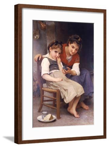 Sulking-William Adolphe Bouguereau-Framed Art Print