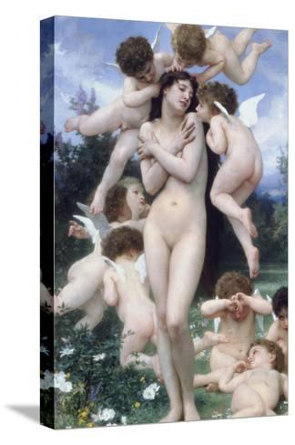 Springtime-William Adolphe Bouguereau-Stretched Canvas Print