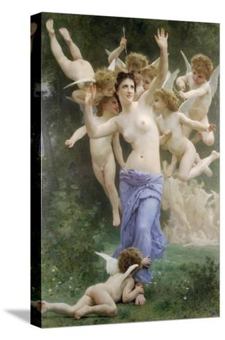 The Wasps Nest-William Adolphe Bouguereau-Stretched Canvas Print