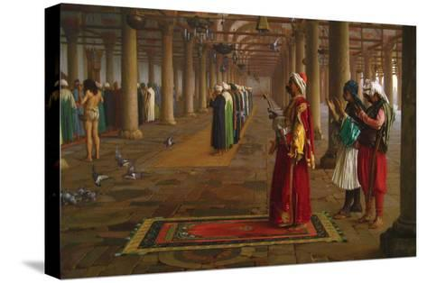 Prayer in a Mosque-Jean Leon Gerome-Stretched Canvas Print