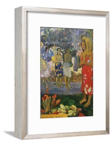 La Orana Maria (Hail Mary)-Paul Gauguin-Framed Art Print