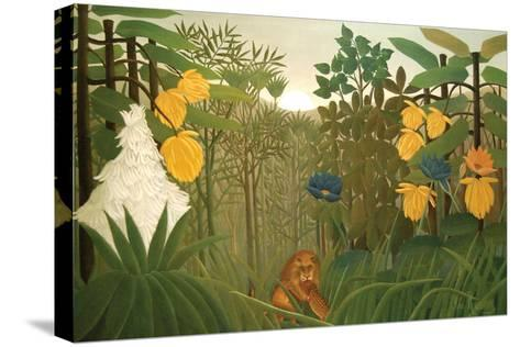 Repast of the Lion-Henri Rousseau-Stretched Canvas Print