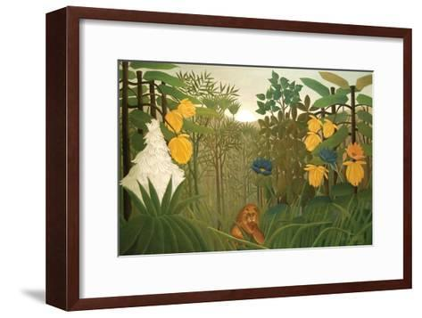 Repast of the Lion-Henri Rousseau-Framed Art Print