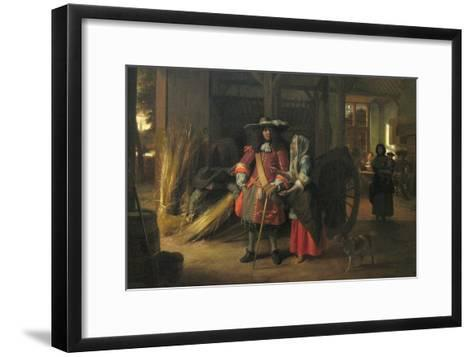 Paying the Hostess-Pieter de Hooch-Framed Art Print