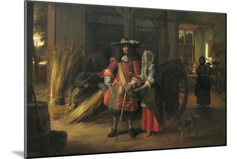 Paying the Hostess-Pieter de Hooch-Mounted Art Print