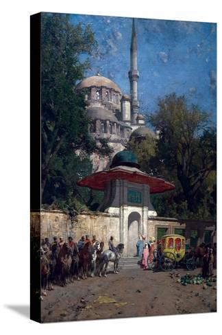 The Mosque of Sultan Achmet, Constantinople-Alberto Pasini-Stretched Canvas Print