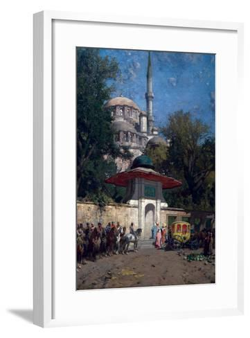 The Mosque of Sultan Achmet, Constantinople-Alberto Pasini-Framed Art Print
