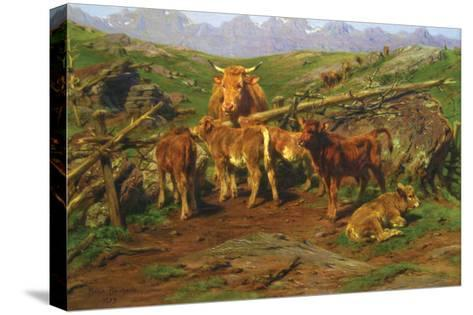 Weaning the Calves-Rosa Bonheur-Stretched Canvas Print