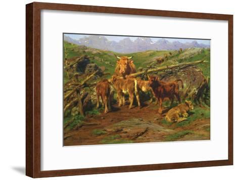 Weaning the Calves-Rosa Bonheur-Framed Art Print