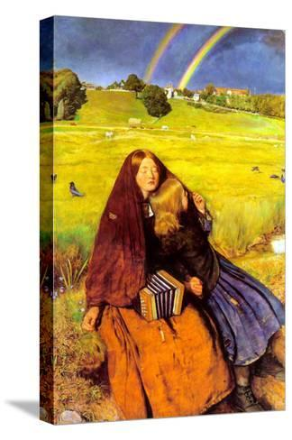 The Blind Girl-John Everett Millais-Stretched Canvas Print
