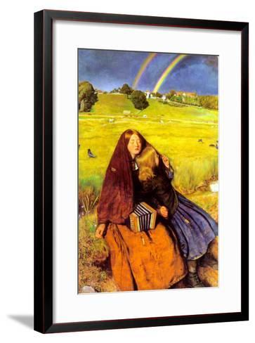 The Blind Girl-John Everett Millais-Framed Art Print