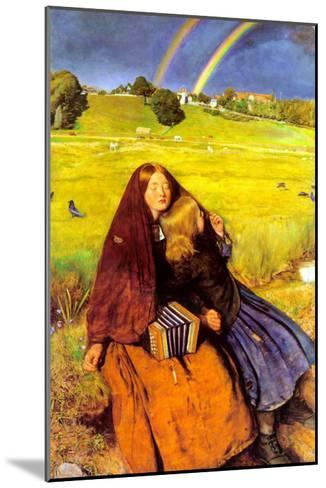 The Blind Girl-John Everett Millais-Mounted Art Print