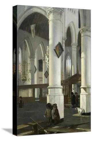 Interior of the Old Church in Delft, 1650–52-Emanuel de Witte-Stretched Canvas Print