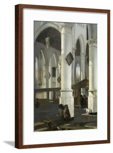 Interior of the Old Church in Delft, 1650–52-Emanuel de Witte-Framed Art Print