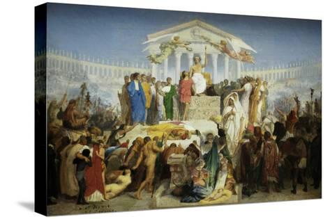 The Age of Augustus, the Birth of Christ-Jean Leon Gerome-Stretched Canvas Print