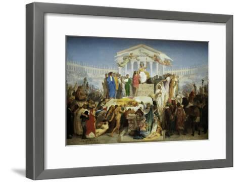 The Age of Augustus, the Birth of Christ-Jean Leon Gerome-Framed Art Print