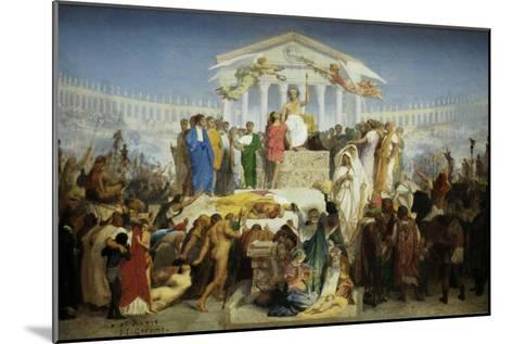 The Age of Augustus, the Birth of Christ-Jean Leon Gerome-Mounted Art Print