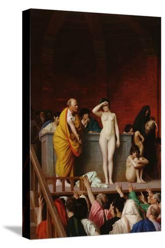 The Slave Market-Jean Leon Gerome-Stretched Canvas Print