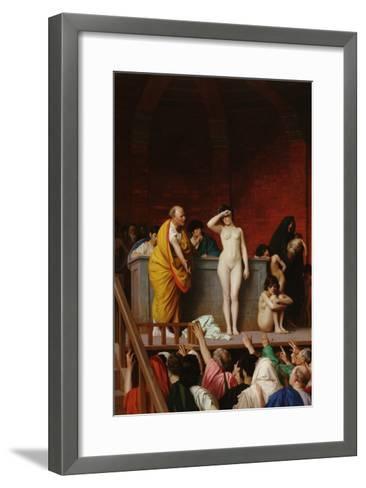 The Slave Market-Jean Leon Gerome-Framed Art Print