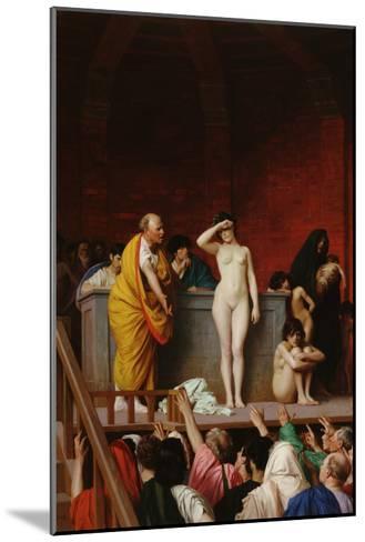 The Slave Market-Jean Leon Gerome-Mounted Art Print