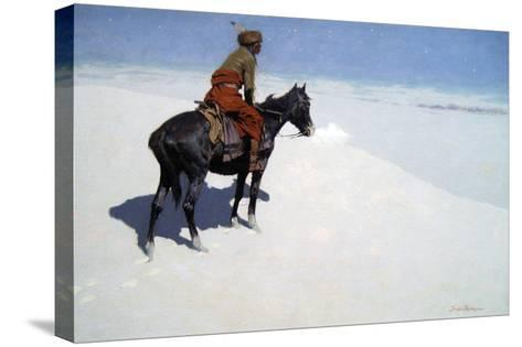 The Scout, Friends or Foes-Frederic Sackrider Remington-Stretched Canvas Print