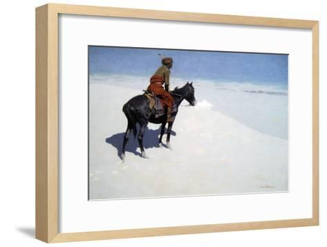The Scout, Friends or Foes-Frederic Sackrider Remington-Framed Art Print