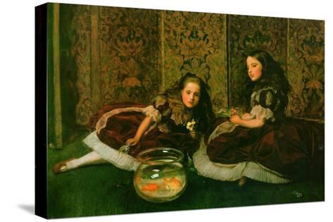 Leisure Hours-John Everett Millais-Stretched Canvas Print