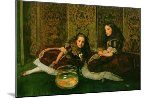Leisure Hours-John Everett Millais-Mounted Art Print