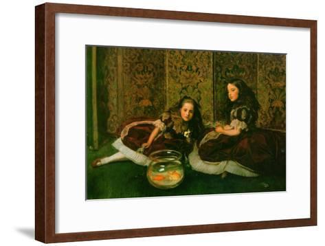 Leisure Hours-John Everett Millais-Framed Art Print
