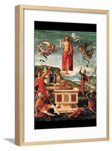 Resurrection of Christ-Raphael-Framed Art Print