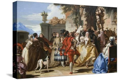 Dance in the Country-Giovanni Tiepolo-Stretched Canvas Print