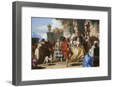 Dance in the Country-Giovanni Tiepolo-Framed Art Print