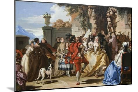 Dance in the Country-Giovanni Tiepolo-Mounted Art Print