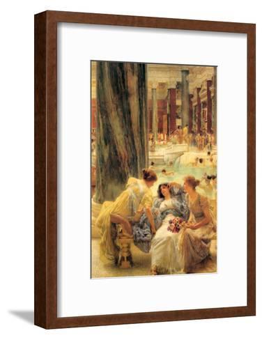 Baths of Caracalla-Sir Lawrence Alma-Tadema-Framed Art Print