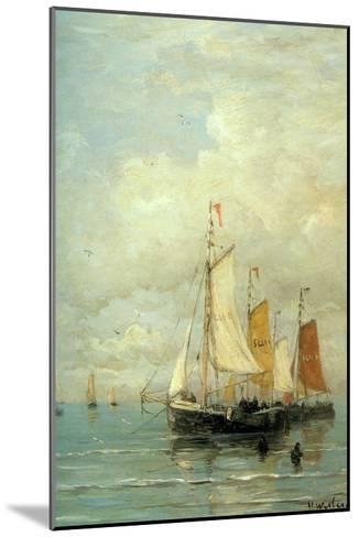 A Moored Fishing Fleet-Hendrik William Mesdag-Mounted Art Print